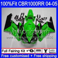 Injectie + Tank voor HONDA CBR 1000RR 04-05 CBR 1000 RR 2004 2005 275HM.37 CBR1000 RR GROENE BLACK HOT CBR1000RR 04 05 OEM BODIODE FUNLINGS KIT
