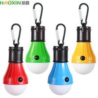 Haoxin 4 색 휴대용 매달려 텐트 램프 비상 LED 전구 빛 캠핑 등산 활동에 대 한 캠핑 랜턴 배낭 여행
