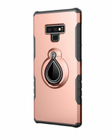 Pour Samsung Galaxy Note 9 Bague Bague Simple Robuste Combo Hybrid Armure Impact Cool Housse De Protection Pour Samsung Galaxy Note 9