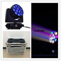 Flightcası Kil Paky Sharpy ile 2 adet LED Beam B Göz Hareketli Kafa Işık 4in1 RGBW 12 adet * 40 W Zoom Led Büyük Arı Göz Hareketli Işın Işık