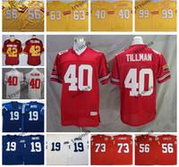 NCAA Vintage 42 Pat Tillman 19 Johnny Unitas John Hannah Tippett Roy Selmon 40 Mike Alstott 99 Warren Sapp Hardy Nickerson Futbol Forması