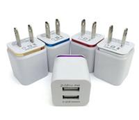 휴대 전화 화웨이 하나 플러스 삼성 갤럭시위한 새로운 금속 듀얼 USB 벽 충전기 미국 EU 플러그 2.1A AC 전원 어댑터 벽 충전기 플러그 2 포트