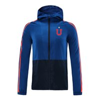 2020 Universidad Chile football Veste à capuche zippée coupe-vent veste coupe-vent le football des hommes de Top sweat à capuche zippée sport Vestes en cours