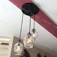 펜던트 램프 두개골 머리 110-240v 빈티지 고정물 실내 다이닝 룸 카페 바 홈 DHL에 대 한 1m 매달려 투명 유리