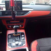 Audi A6 C7 2012-2018 인테리어 중앙 제어 패널 도어 핸들 3D / 5D 탄소 섬유 스티커 데칼 자동차 스타일링 액세서리