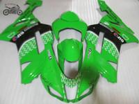 カワサキ2007 2008 ZX-6Rオートバイ忍者ZX6R 07 08 636 ZX 6R ZX636緑の黒の中国のフェアリングキット