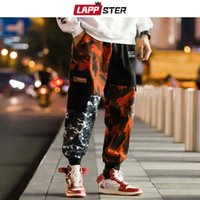 LAPPSTER Men Color Block Cargo Pants 2019 Streetwear Hip Hop...
