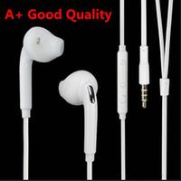 A + kaliteli TPE kulaklık kulak kulaklık 3.5mm fiş stereo kulaklık Mic ve uzaktan Samsung S5 S6 S7 S8 S9 S10 kenar akıllı telefon