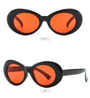 Clock Goggles Retro Vintage Weiße ovale Sonnenbrille Nirvana Kurt Cobain Gläser Alien Shades 90er Jahre Black Oval Sonnenbrille Punk Rock Glasses