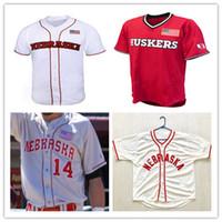 주문 2019 네브래스카 Cornhuskers 대학 야구 유니폼 4 알렉스 고든 2 Jaxon Hallmark 회색 흰색 빨간색 스티치 번호 번호 NCAA 저지