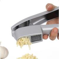 Garlic Press Slicer 2 em 1 Alumínio Garlic Ginger Mincer e Slicer com corte e moagem Multifunction Cozinha Cozinhar Ferramentas