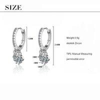 2020 Yeni Moda Zirkon Su Damlası Püskül Küpe İçin Kadınlar 925 gümüş küpe oorbellen S-E861