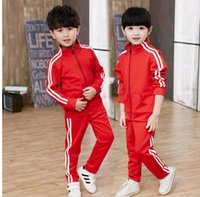 2019 Spring Baby Casual Tuta Bambini Boy Girl Cotton Zipper Jacket Pants 2Pcs / Sets Kids Leisure Suit Sport Abbigliamento da neonato