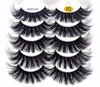 2019 NEW 5 Paare 100% Echtes Nerz Wimpern 3D Natürliche falsche Wimpern Mink Lashes Weiche Wimpernverlängerung Makeup Kit cilios