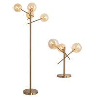 Post Modern Nordic fosco vitral ouro Led Floor Lamp Table Nordic Magia Feijão Quarto Sala Pavimento Luz pe