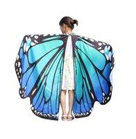 Çocuk şallar ve Kız Kelebek kanatları zenci kadın şallar tasarımcı Eşarplar perisi Pixie Panço Kostüm Aksesuar 2adet / lot GB448 panço