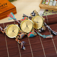 1pcs Women Colorful Handmade Weave Round Pull Rope Quartz Wa...