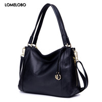 Lomelobo Women Genuine Leather Shoulder Bags Luxury Lady Fas...