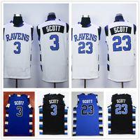 La versión de la película de una colina de árbol 3 Lucas Scott Jersey Blue Black White 23 Nathan Scott Double Scotched Malla Basketball Jerseys