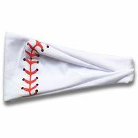 عرق 20style البيسبول الشعر Hairband البيسبول الرياضة الكرة رباطات يوجا للياقة البدنية وشاح فريق الرياضة Hairbow النساء الرجال لكرة القدم الشعر الفرقة GGA3404-3