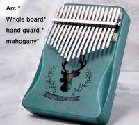 İyi bir ses kalitesi 17 Tuşlar Kalimba SANZA Başparmak Piyano maun Tüm tahta Parmak piyano Masif ahşap Öğrenci Müzik Enstrümanı acemi
