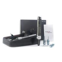 Digital 6 niveaux Derma Pen Professional Sans Fil DR. stylo m8 avec cartouche d'aiguille rond nano aiguilles