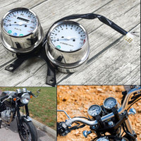 Universal Motorcycle Mechanical odometer high quality speedometer and engine speed instrument