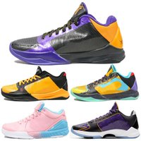 2020 Shoes Men Basquete MAMBA 5 PROTRO LAKERS Bryant 4s Protro ZOOM TURBO roxo Dynasty Amarelo Sneaker Luxo Sneakers Chaussures 40-46