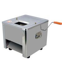BEIJAMEI Machine de découpe de viande commerciale 850W Manuel électrique Poisson Boeuf Viande De Porc Coupe-Viande De Bureau Trancheuse À Viande Machine À Découper En Dés