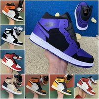 Günstige 2020 NEw 1 HiGh OG Bred TOE Gebannt GAME ROYAL Basketball-Schuh-Qualitäts-Mann-1s Top 3 zerschmetterten Backboard Schatten Chicago Turnschuhe