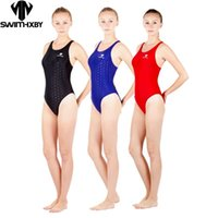 HXBY one piece black triangle competition training swimsuit ...