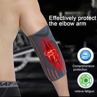 Unisex traspirante Gomito Allenamenti Allenamenti Allunga Supporto esterno del gomito Cuscinetti di protezione per braccio da tennis Manica da compressione # 2 per pallavolo