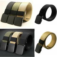 Elegante Exército Womens Mens Unisex tático cinto cintos de lona ajustável Homens Buckle Cinto Cintura 110CM