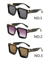 0993 نظارات كاملة الإطار الكامل مصمم النظارات الشمسية للرجال لامعة الذهب الساخن بيع الذهب مطلي نظارات الشمس 6 ألوان
