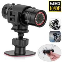F9 미니 자전거 방수 카메라 HD 오토바이 헬멧 스포츠 액션 비디오 DV 캠코더 풀 HD 1080p의 자동차 비디오 레코더를 온