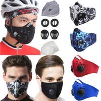 Máscara facial lavável com filtro para ciclismo protetor ao ar livre correndo Caminhadas Homens Mulheres Drop Waterproof PM2.5 suprimentos
