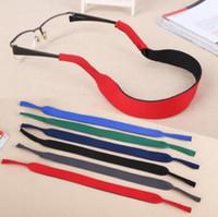 500pcs / lot 6 couleurs Lunettes néoprène Collier Retenue Cordon / chaîne / cordes Longe pour lunettes de soleil Lunettes