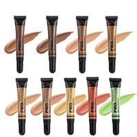 Meninas Fundação Creme Moda 9 Cores 16G Soft Wear Longo Desgaste Impermeável Líquido Corretivo Mulheres Maquiagem Primer para Olho e Face