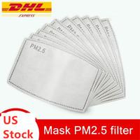 US Nave PM2.5 filtro per Mask Anti Haze Bocca Maschera sostituibile Filtro-slice 5 strati non tessuti filtro a carboni attivi viso Maschere di guarnizione