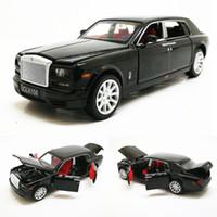 1:32 Rolls Royce Phantom Удлиненный лимузин сплава с лимузионом сплава игрушка металлический автомобиль Модель автомобиля Детская подарочная коллекция бесплатная доставка Y200109