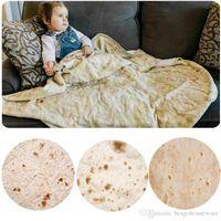 Thick Funny Burrito Absorbent Towel Pancake Blanket 122 152cm Plush Beach Adult Kids Round Blanket Home Fiber Bath Towel Blanket BH1942 ZX