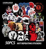 50 PCS Mixed Car Stickers Death Note Anime para o skate Laptop Frigorífico Capacete Pad Bicicleta Motocicleta PS4 Notebook guitarra PVC Decal