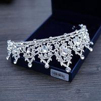Свадебные украшения тиара головной убор белый кристалл корона невесты принцесса корона головной убор для свадебного платья 2019 свадебные аксессуары для невесты