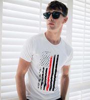2020 ZSIIBO erkek s tasarımcı tişörtleri erkek ve kadın ABD Bayrağı Askeri pamuklu t shirt moda hip hop üst tee DYDHGMC195 baskı