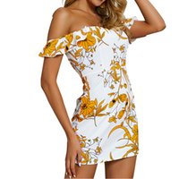 Boho Beach Summer Dress Femmes Vêtements Sans Manches Moulante Mini Sexy Dress Sweet Floral Robe D'envol 2019 De Vacances Nouveau GV327