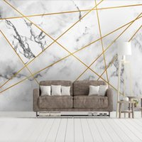 Drop Shipping Custom 3D Wallpaper Murals Simple Geometric Ma...