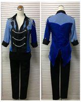 Юрий !!! на льду Katsuki Юрий Синий производительность Спортивная косплей Хэллоуин Косплей Полный костюм пальто + рубашка + брюки + перчатки