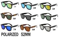 Летняя новейшая мода на открытом воздухе поляризованные солнцезащитные очки для мужчин и женщин Спорт Унисекс Солнцезащитные очки Черная рамка Солнцезащитные очки 52 мм Бесплатный корабль