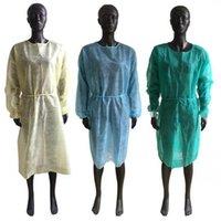 Trajes desechables, ropa de protección 4 colores no tejido Aislamiento Vestidos Una Hora anti protección contra el polvo 2000pcs LJJO7992