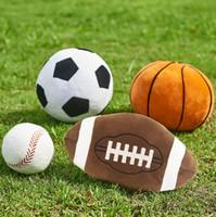 Имитация футбола баскетбол бейсбол игрушки дети творческая сфера игрушки мультфильм сферическая подушка детские плюшевые куклы для мальчика новинка подарок GGA1869